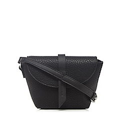 The Collection - Black front tab cross body bag