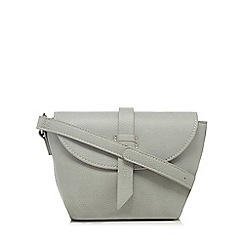 The Collection - Grey front tab cross body bag