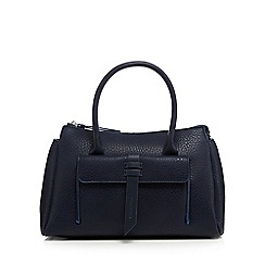 The Collection - Navy front tab tote bag