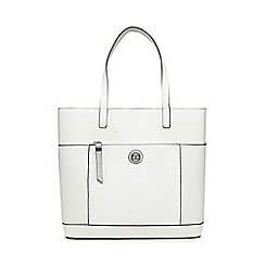 The Collection - White front zip shopper bag