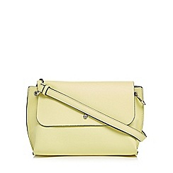 The Collection - Yellow textured cross body bag