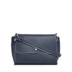The Collection - Navy textured cross body bag