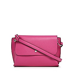 The Collection - Bright pink textured cross body bag