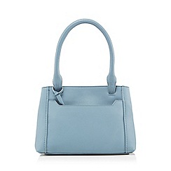 The Collection - Light blue leather grab bag with a purse
