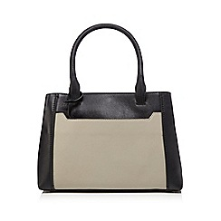The Collection Black Leather Grab Bag With A Purse