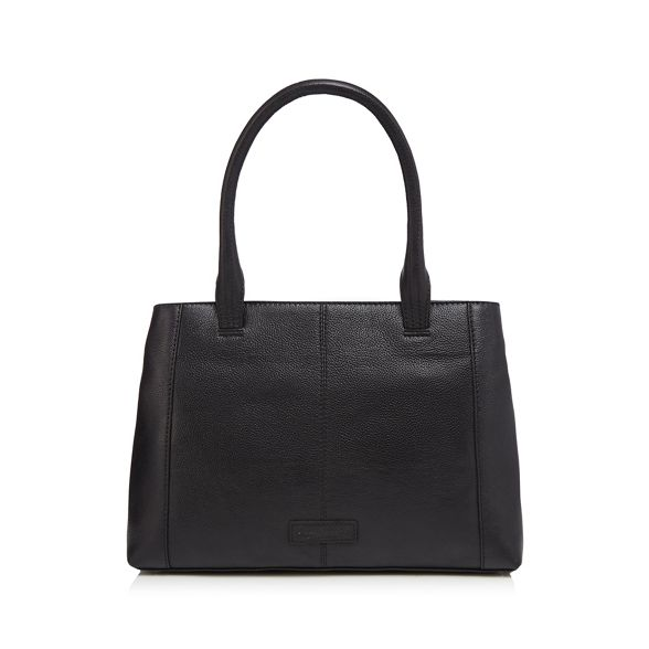 a Collection grab Black leather The bag with purse 6BqfwCOCx