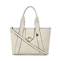 The Collection - Grey circle detail tote bag