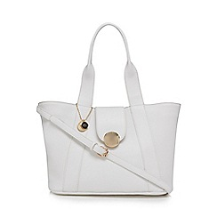 The Collection - White circle detail tote bag