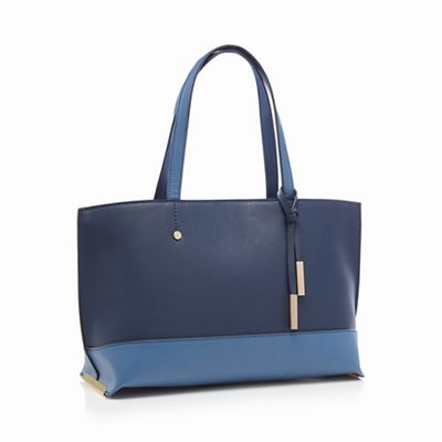 The Collection   Navy Metal Side Tote Bag by The Collection