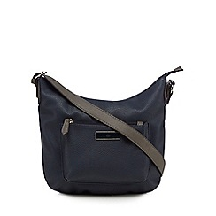 The Collection - Navy front pocket cross body bag