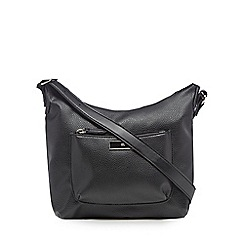 The Collection - Black front pocket cross body bag