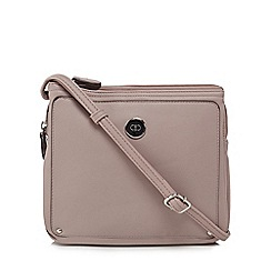 The Collection - Light pink three compartment cross body bag