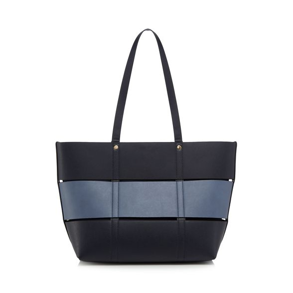 The bag Collection detail shopper panel Navy r8vwrq