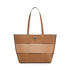 The Collection - Tan panel detail shopper bag