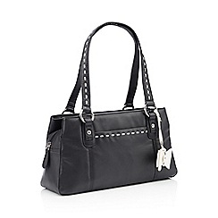 The Collection Black Sch Bow Leather Grab Bag