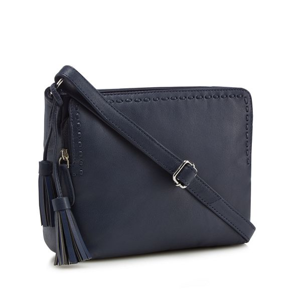 body Collection cross tassel bag leather Black The X0qSfw