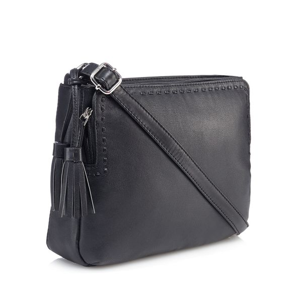 Black Collection bag leather body cross tassel The A5xOqwSO