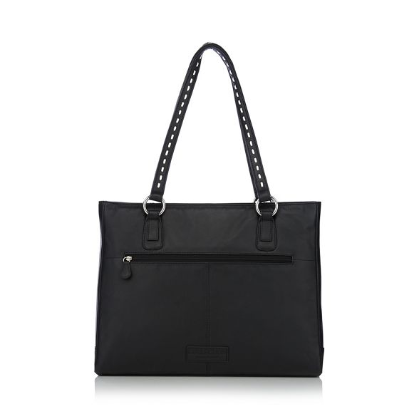 tote stitch bag Collection The leather Black bow wUXHq4BqO