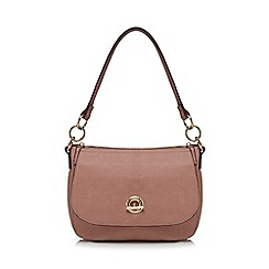 The Collection - Light pink circle fitting small shoulder bag