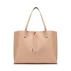 The Collection - Light pink bar detail shopper bag