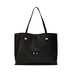 The Collection - Black bar detail shopper bag