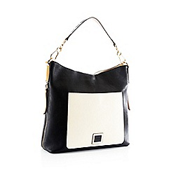 Principles - Black colour block shoulder bag
