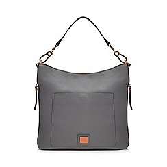 Principles - Grey front pocket shoulder bag