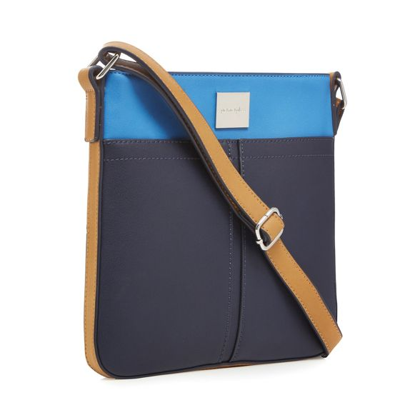 Principles block cross colour body Navy bag panelled wqT7nvZ