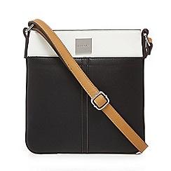 Principles - Black panelled colour block cross body bag