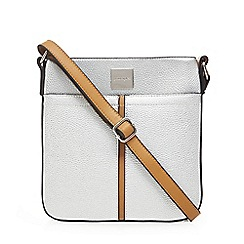 Principles - Silver panelled cross body bag