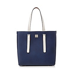 Principles - Navy structured shopper bag