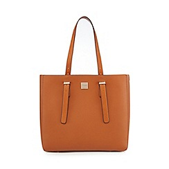 Principles - Tan structured shopper bag