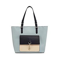 Principles - Blue front pocket shopper bag