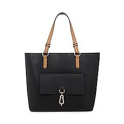 Principles - Black front pocket shopper bag