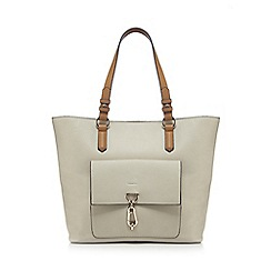Principles - Cream front pocket shopper bag
