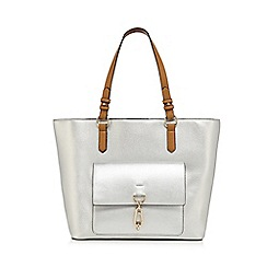 Principles - Silver front pocket shopper bag