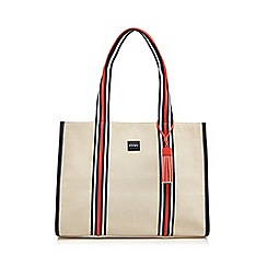 Principles - Multicoloured canvas striped detail tote bag