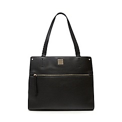 Principles - Black zip front tote bag