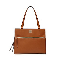 Principles - Tan zip front tote bag