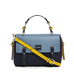 Principles - Blue side zip cross body bag