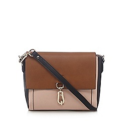 Principles - Tan colour block cross body bag