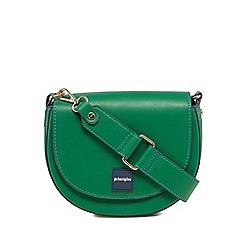 Principles - Green webbed edge saddle bag
