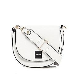 Principles - White webbed edge saddle bag