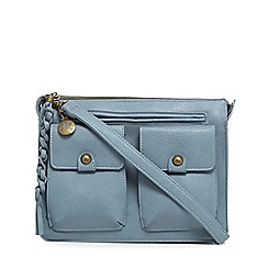 Mantaray - Light blue three pocket satchel