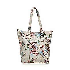 Mantaray - Multi-coloured floral print bucket bag