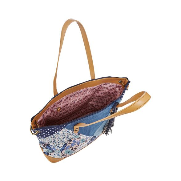 bag Mantaray tote denim patchwork Blue IqwxZqgUF