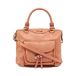 Mantaray - Dark pink front pocket bowler bag