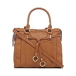 Mantaray - Brown belted ring detail tote bag