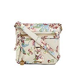 Mantaray - Multi-coloured floral print cross body bag