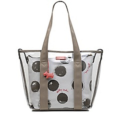 Radley - White and grey 'Moon Dots' large multiway grab bag